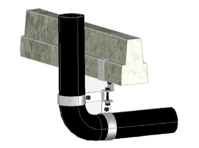90 Degree Pipe Support Bracket Expertly Manufactured to your